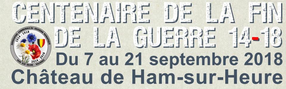 Commune de Ham-sur-Heure-Nalinnes | Festivités du centenaire de la fin de la guerre 14-18 à Ham-sur-Heure-Nalinnes