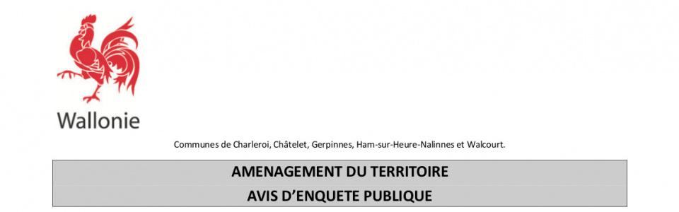 Commune de Ham-sur-Heure-Nalinnes | Enquête publique - Projet de tracé de la E420-N5
