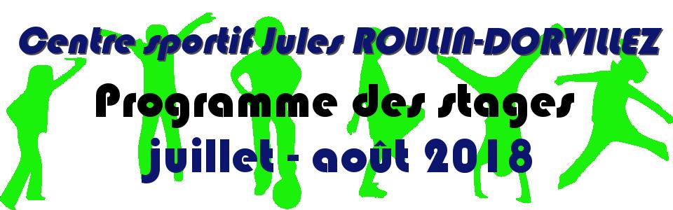 Commune de Ham-sur-Heure-Nalinnes | Programme des stages au Centre sportif Jules ROULIN-DORVILLEZ