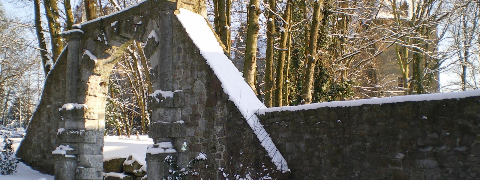Commune de Ham-sur-Heure-Nalinnes | Chateau Ham-sur-Heure hiver 1