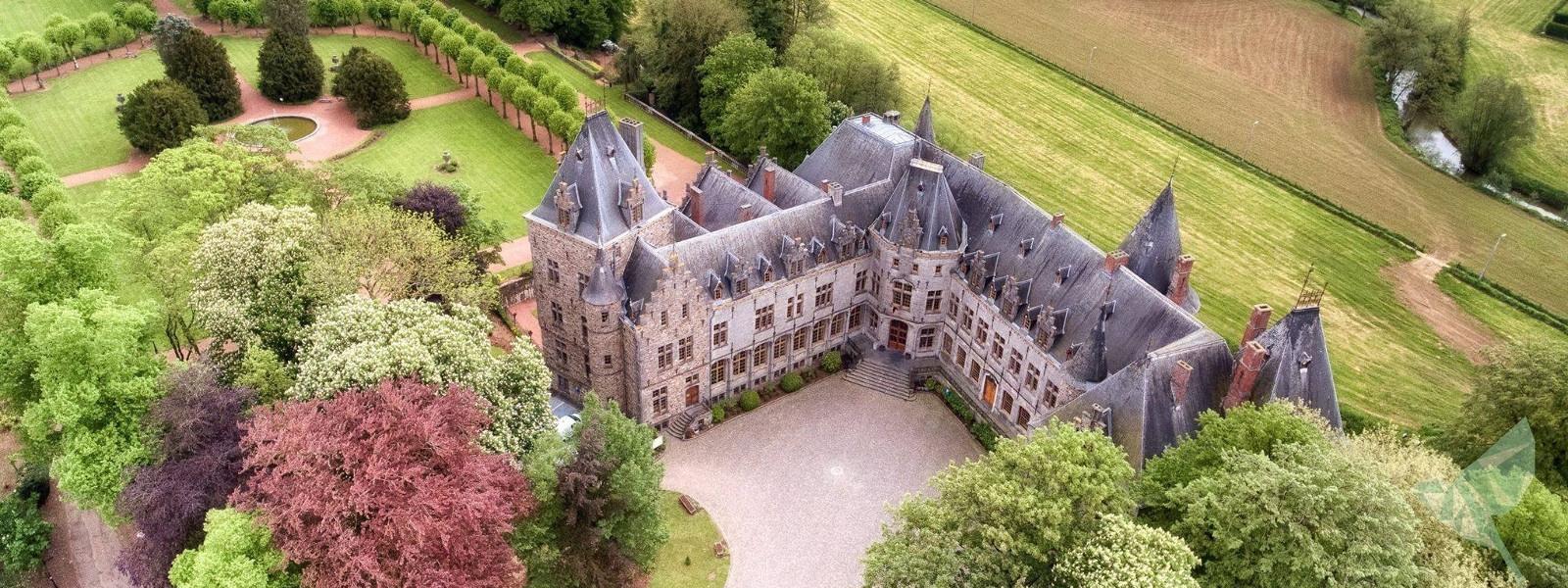 Commune de Ham-sur-Heure-Nalinnes | Le Château vue du ciel